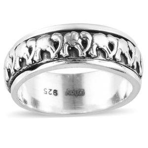 Sterling Silver Artistic Design Elephant Ring